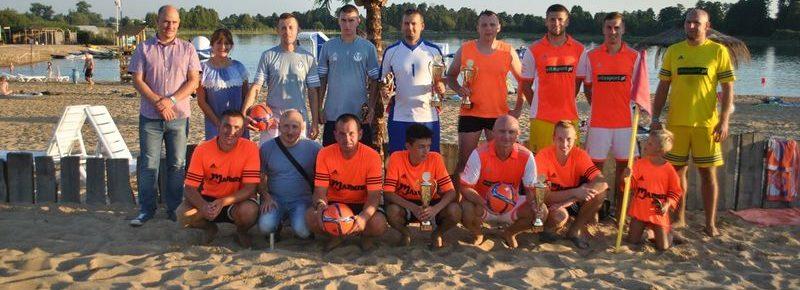 Zwycięzcy w zawodach Beach Soccer 2016: Hutnik Huta Czechy