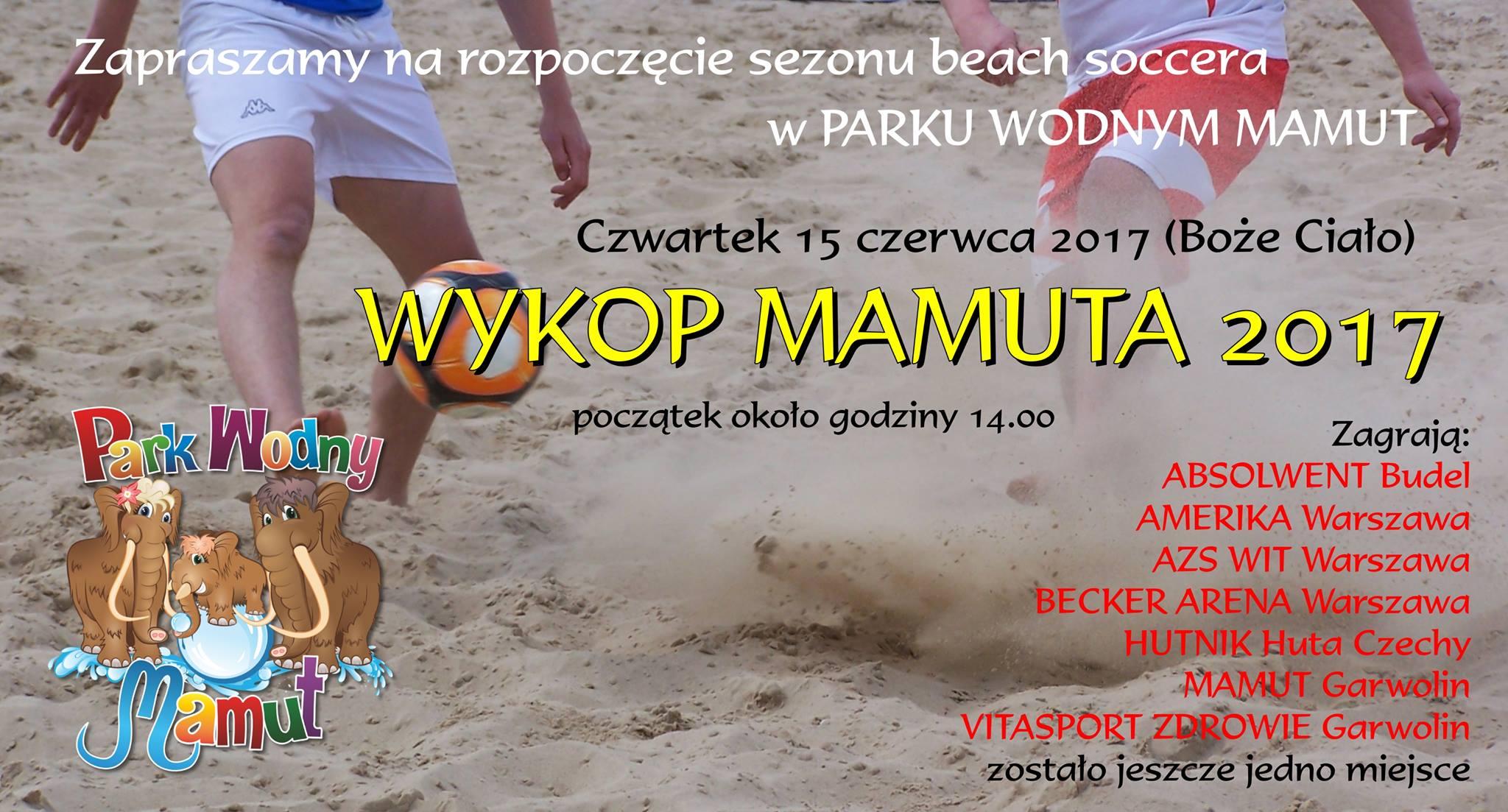 WYKOP Mamuta – otwarcie sezonu 2017 w Beach Soccer 2017