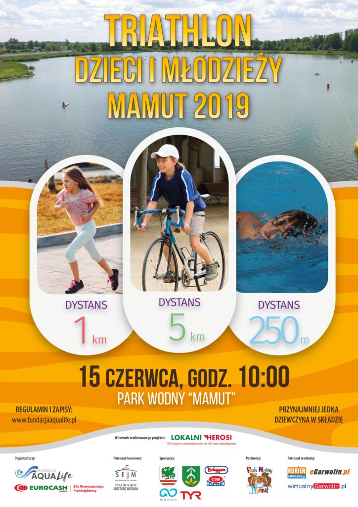 Triathlon dzieci i młodzieży Mamut 2019